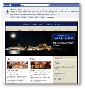 National Harbor's Facebook landing page