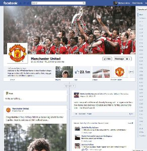 Timeline for famed soccer club Manchester United.